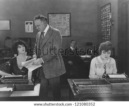Office politics - stock photo