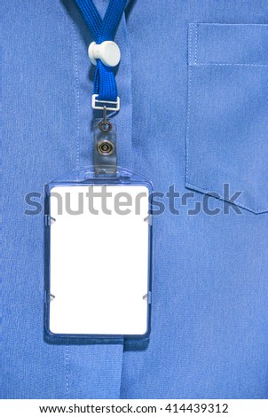 office shirt with Blank ID card - stock photo