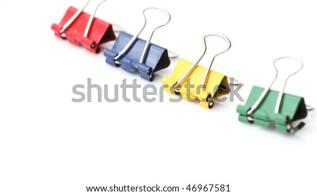 office stationary - colorful paperclips