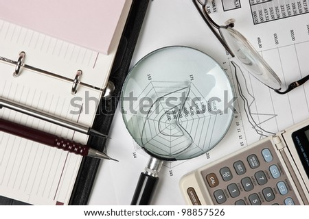 office still life on the table - stock photo
