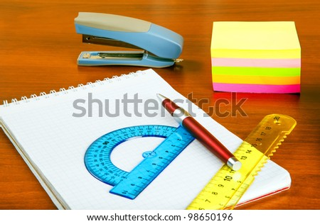 office supply - stock photo
