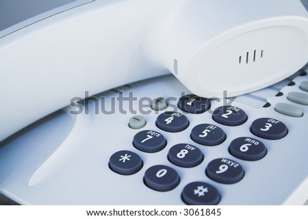 office telephone detail - stock photo