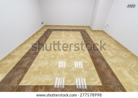 Office Shiny Tiles On Floor Stock Photo (Royalty Free) 277578998 ...