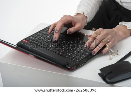 Office work, women with computer