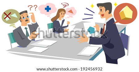 Office worker - does not come - stock photo
