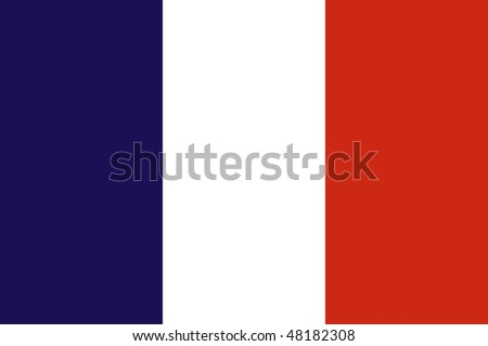 Official flag of France, illustration - stock photo