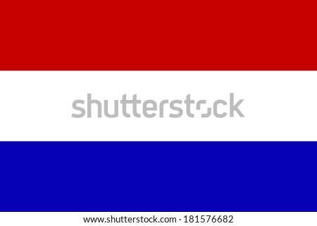 Official flag of The Netherlands nation - stock photo