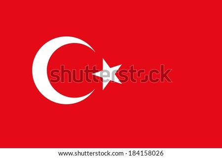 Official flag of Turkey nation - stock photo
