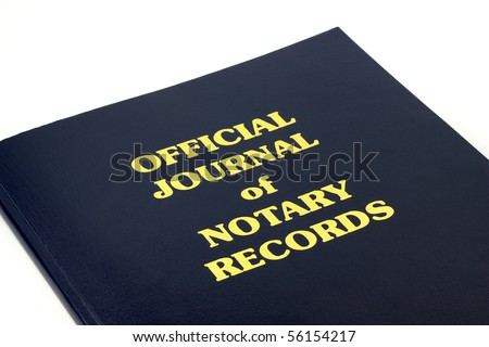 Official Journal of Notary Records - stock photo