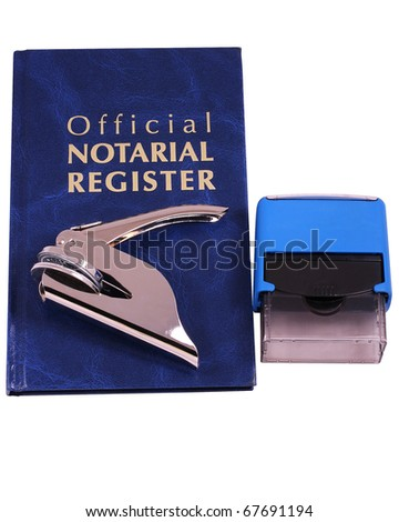 Official Notarial Register - stock photo