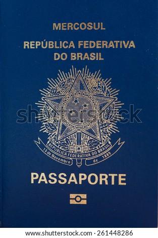 Official passport of Brasil - stock photo