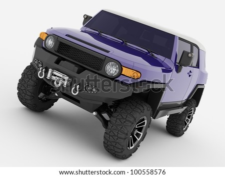 offroad car - stock photo