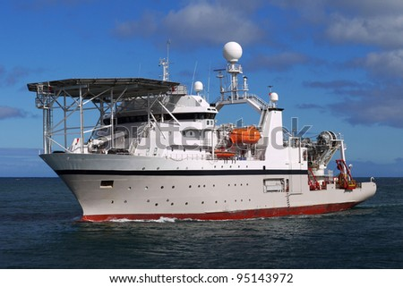 Offshore Diving Ship B. - stock photo