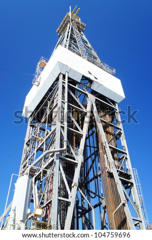 Offshore Jack Up Drilling Oil Rig - stock photo