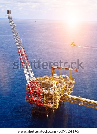 Offshore Oil & Gas central process platform, Offshore natural construction plant, Petroleum industry and business