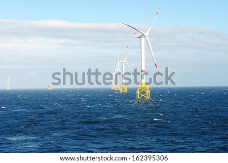 Offshore Wind Energy - stock photo