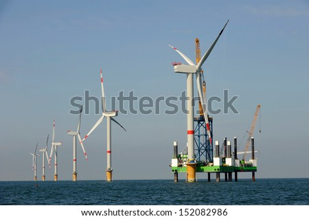 Offshore Windfarm - stock photo