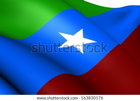 Ogaden National Liberation Front Flag. Close Up.    - stock photo