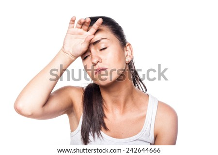Oh, i'm really exhausted! - stock photo
