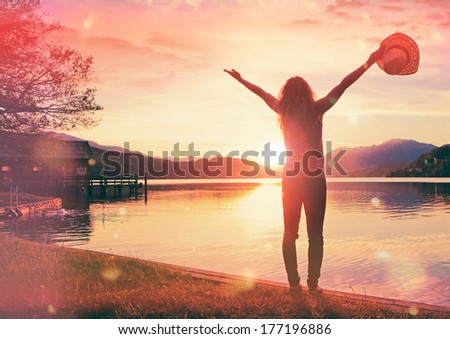 oh sunset - stock photo