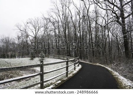 Ohio Landscape in Winter. - stock photo