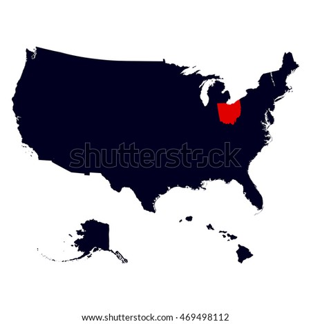 Ohio State In The United States Map