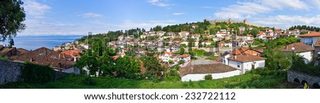 Ohrid town in Republic of Macedonia - stock photo