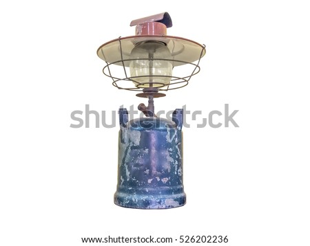 Oil ancient lamp.isolated on white background with clipping path.