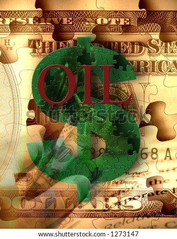 Oil and corporate greed - stock photo