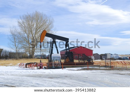 Oil and Gas industrial background - stock photo