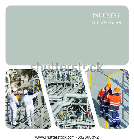 Oil And Gas Industry. Piping Upstream Process oil and gas - stock photo