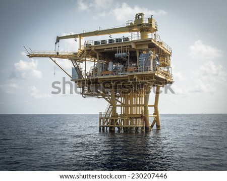 Oil and gas platform, Power energy. - stock photo