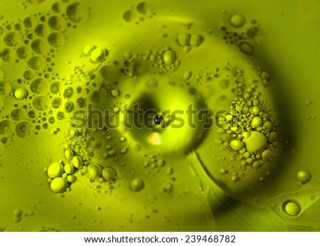 Oil and paint with green color  - stock photo