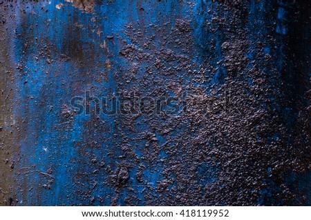 Oil barrel background , blue fuel tank background - stock photo