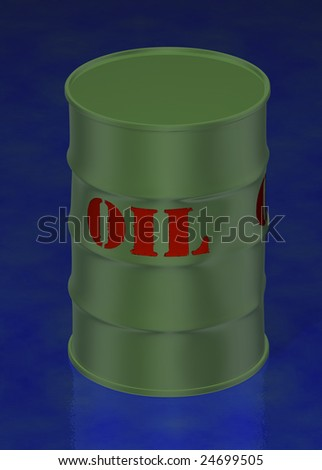 Oil barrel 3d concept illustration - stock photo