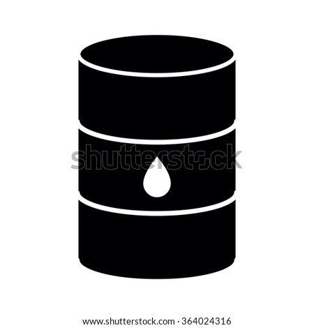 Oil barrel icon isolated on white background. illustration