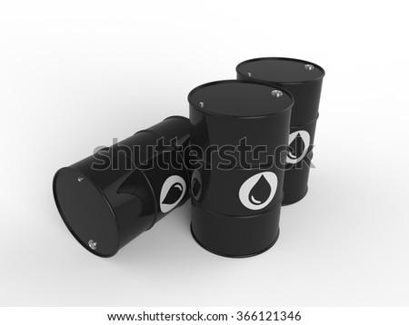oil barrel multiple - stock photo