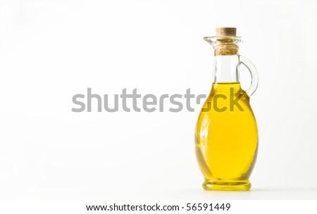 oil bottle - stock photo