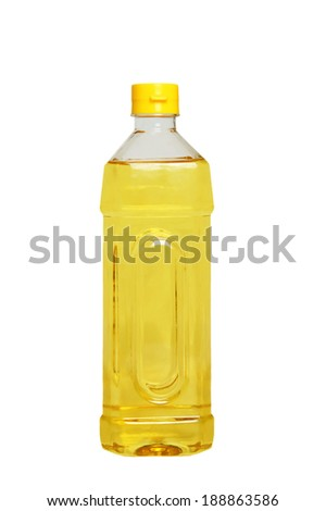 Oil bottle isolated on a white background. - stock photo