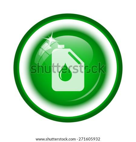 Oil can icon. Internet button on white background.  - stock photo