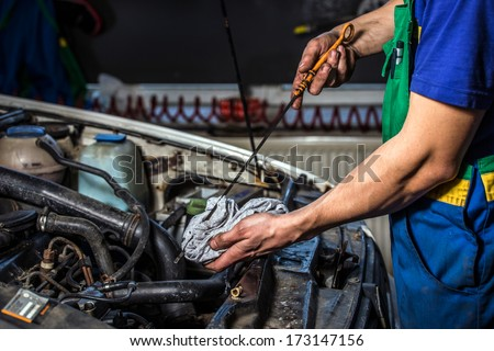 oil change - stock photo