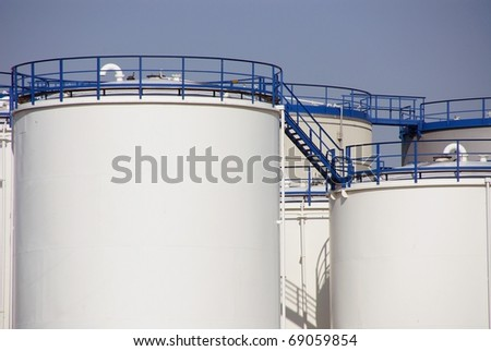 Oil containers - stock photo