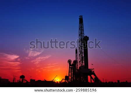 Oil drilling rig  - stock photo