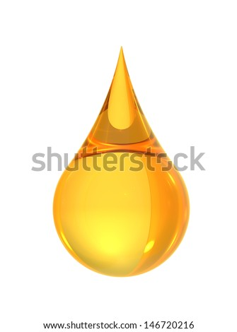 oil drop isolate on white back ground - stock photo