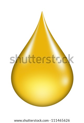 oil drop isolated - stock photo