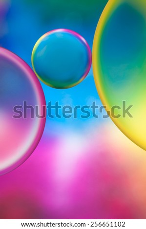 oil drops on a water surface abstract background - stock photo