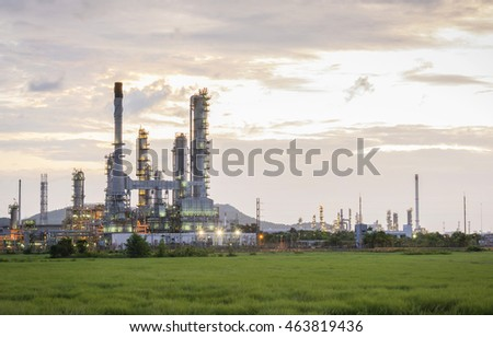Oil factory and Petroleum industry