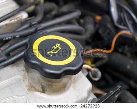 oil filler cap - stock photo