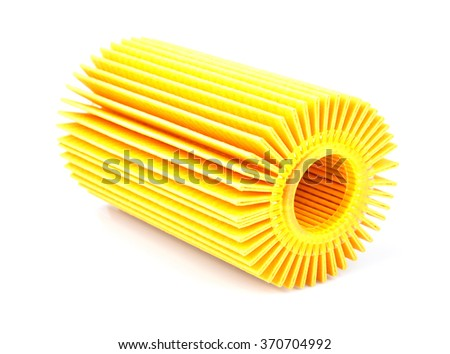 Oil Filter isolated - stock photo