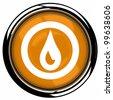 oil Icon Button - stock vector